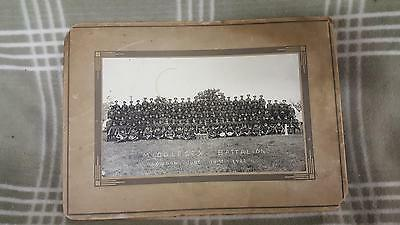 1922 MIDDLESEX BATTALION Photo.  Canadian Army. WWI