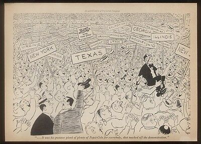 1944 Pepsi-Cola delegate convention Robt Day cartoon ad