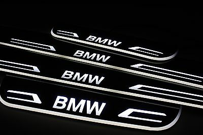 LED Sill For BMW 5 E60 Scuff Door Entry Plate Cover Strips Step Logo Protector