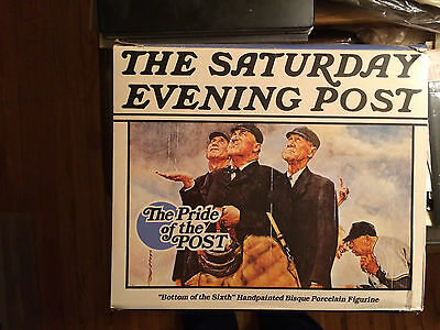 """Saturday Evening Post Figurine """"bottom Of The Sixth 1986 From Pride Of The Post"""