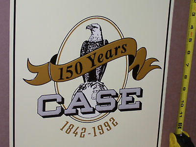 CASE - 150 Year Anniversary ... For the Years 1842-1992 ---  OLD SIGN Dated 1992