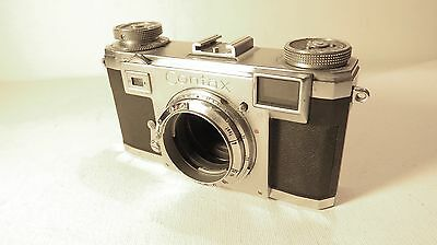 Vintage Zeiss Ikon Contax IIa Rangefinder Camera in Super Clean Condition++