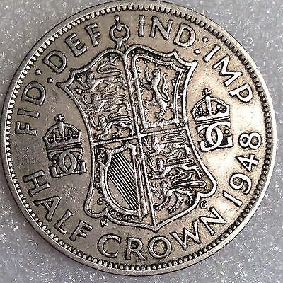 Great Britain 1/2 Crown 1948   Large Copper-Nickel Coin   #5666