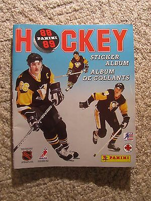 Vintage 1988-89 PANINI NHL HOCKEY STICKER ALBUM  complete with all 408 stickers