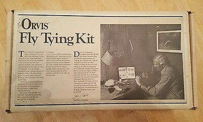 Vintage Orvis Fly Tying Kit With lots of extras.