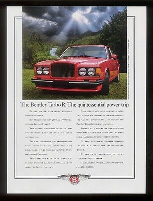 1991 Bentley Turbo R car photo vintage print ad