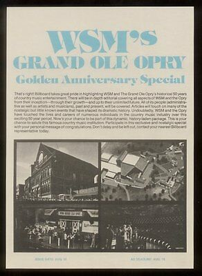 1975 Grand Ole Opry photo Golden Anniversary trade vintage print ad