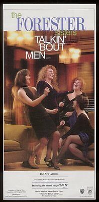 1991 The Forester Sisters photo trade vintage print ad
