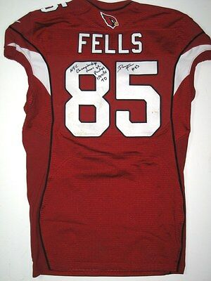 Darren Fells Game Used Arizona Cardinals Nfc Championship Touchdown Game Jersey