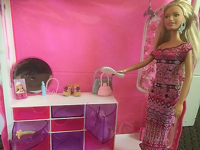 Bulk Lot Of Vintage Barbie Doll Accessories And Portable Home Wardrobe