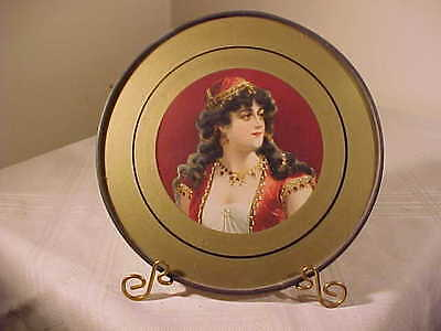 "Antique Flue Cover  ""BEAUTIFUL GIRL"",  Stove Pipe Cover GERMANY 7 3/4 INCH"