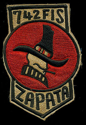USAF 742nd Fighter Interceptor Squadron Zapata Patch S-20