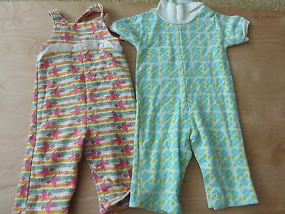 VTG HEALTHTEX JUMPSUIT LOT ONE PIECE OUTFITS 9 MONTHS BABY GIRL 70s 80s