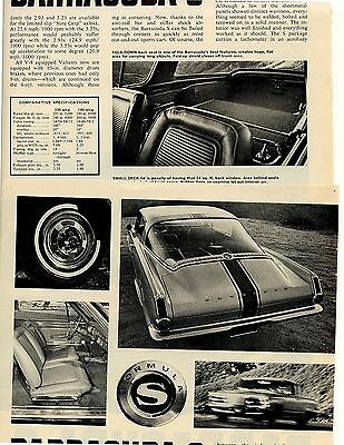 1965 Plymouth Barracuda S 5 Pg Road Test Article