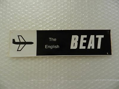 eNGLISH BEAT VINTAGE BUMPER STICKER SKA ROCK BAND 80'S NEW WAVE MUSIC BLACK & WH
