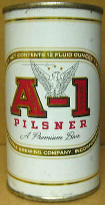 A-1 PILSNER BEER ss Flat Top CAN with EAGLE, Phoenix, ARIZONA