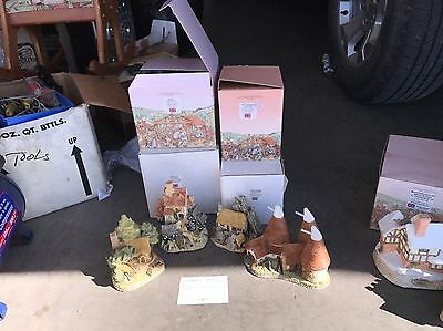4 Piece David Winter Cottage Collection COA NEW CONDITION