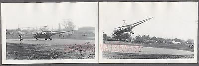 Vintage 1950s Photos Sikorsky Helicopter Taking Off 747921
