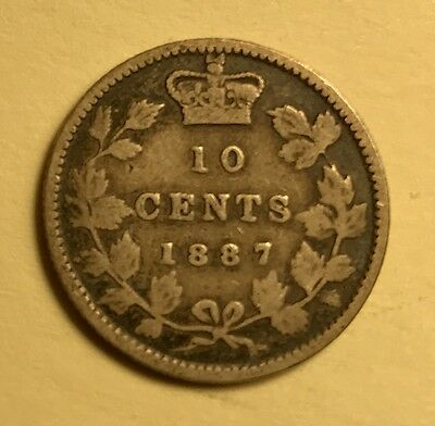 Canada - Queen Victoria - 10 Cents - 1887 - Tough Date