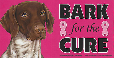 German Pointer BARK for the CURE Pink Ribbons Breast Cancer car MAGNET 4X8 USA