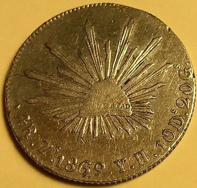 Mexico - 4 Reales - 1869 Zs. Y.H. - KM-375.9 - Zacatecas