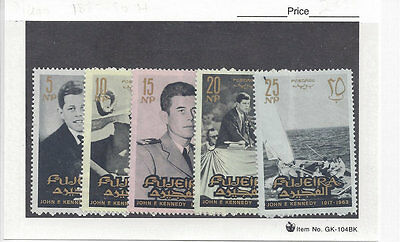 FUJEIRA: 1965 Kennedy Set (Sc 28-37) complete, MNH. Very good condition..