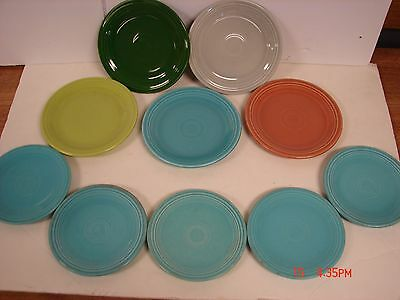 Vintage Lot 10 Genuine Fiestaware Fiesta Hlo Usa Plates Saucers Multi Color