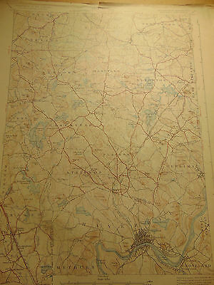 7 New Hampshire Topography Charts 1927 Dept of the Interior Highway Dept. map