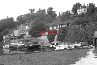 Photo  France Canal 1987 Clamecy Mooring Basin Near Water Point