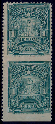 vm32 Mexico #279a 1ctv Vertical Pair Imperforated between Mint LH Est $300