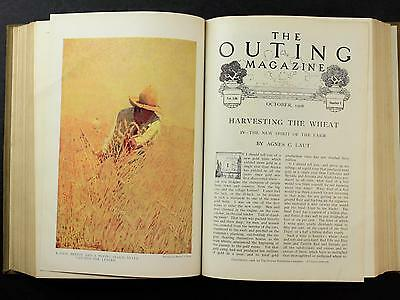 July-Dec 1908 Bound Volume: Outing Magazine~ Sports~Hunting~Camping~Fishing