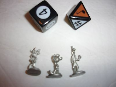 Disney Scene It? board game replacement pieces - dice and pawns