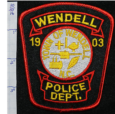 North Carolina, Wendell Police Dept Patch