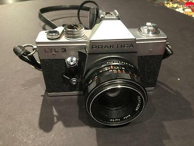 Praktica LTL 3 Camera with Pentacon Auto 1.8/50 MM lens with case - Made in GDR