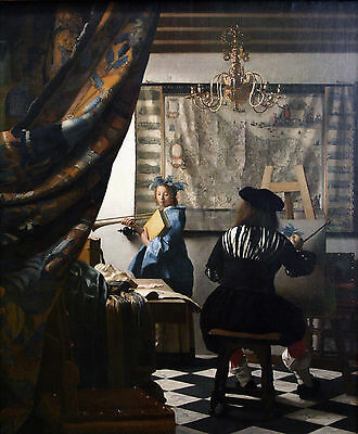 The Art of Painting by Johannes Vermeer ~ Dutch Poster Print