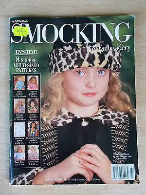 Australian Smocking & Embroidery #43~Dresses~Coat & Hat~Rompers~Patterns