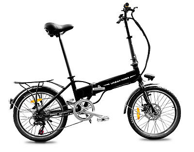 FOLDING ELECTRIC BIKE 36V 9Ah 250W MOTOR PEDAL ASSIST SHIMANO GEARS PAS BICYC...