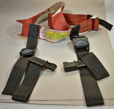 CARES Kids Fly Safe AIRPLANE SEATBELT Safety HARNESS W/Carrying Bag