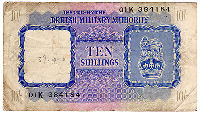 (I.B) GB Currency : British Military Authority Banknote 10/-