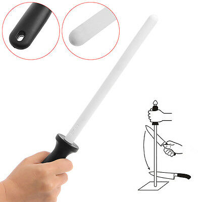"""13"""" Ceramic Sharpening Rod Stick Sharpener with ABS Handle for Knife Blade Edge"""