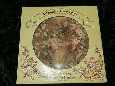 BORDER Fine Bone China Plate A FESTIVAL OF FLOWER FAIRIES The Jasmine Fairy 1987