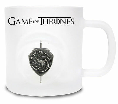 Cup Game of Thrones 3D Rotating Logo Targaryen Mug Glas