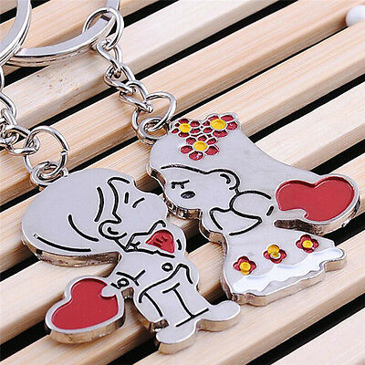 Novelty Items Casual Couple Love Keychain Cartoon Key Chain Lovers Key Ring ESUS
