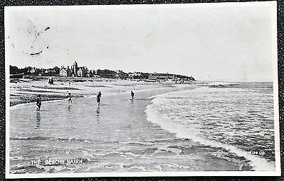 POSTCARD ~ SCOTLAND ~  The Beach, Nairn  1938 ~  Valentine's Series