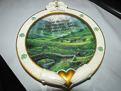 AN IRISH BLESSING MAY THE ROAD RISE...  Bradford Exchange 3D Collector Plate