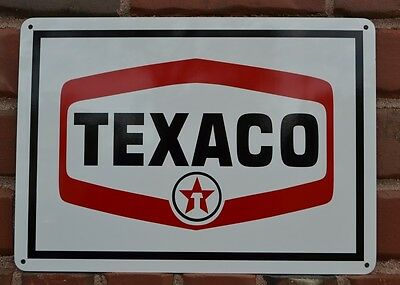 Texaco Gas Pump SIGN Service Station Oil Mechanic Garage Shop Collectable 7day