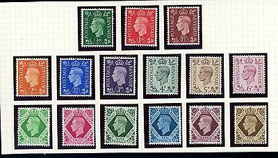 Great Britain 1937  Dark Colours  Definitive Set of (15)  unmounted MINT  (M015)