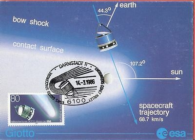 Germany 1986 Darmsadt Space Craft Trajectory Maxi Card # 359