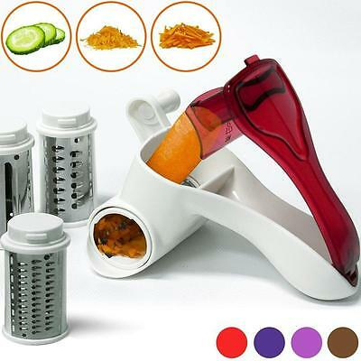 Alpina Plastic Rotary Cheese Multi Grater Slicer With 3 Stainless Steel Drum