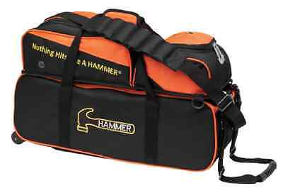 Hammer 3 Ball Tote Bowling Bag with shoe pocket Color Orange/Black  NEW